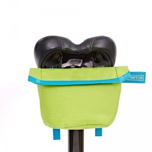 Brompton Saddle Pouch - Lime Green w Lagoon Blue 새들파우치 라임그린+라군블루