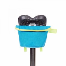 Brompton Saddle Pouch - Lagoon Blue w Lime Green 새들파우치 라군블루+라임그린